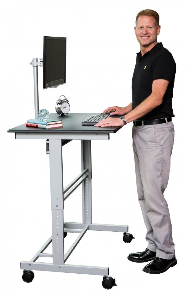 Mobile Fixed Height Standing Desk Stand Up Desk Adjustable Standing Desk Best Standing Desk
