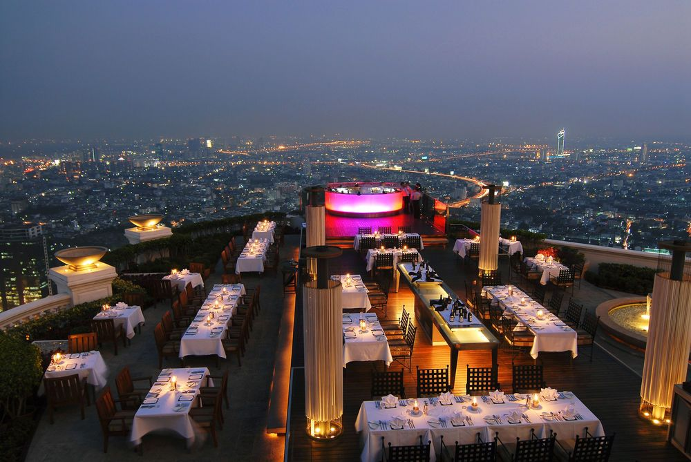 Bangkok Iebua at State Tower Rooftop wedding, Bangkok