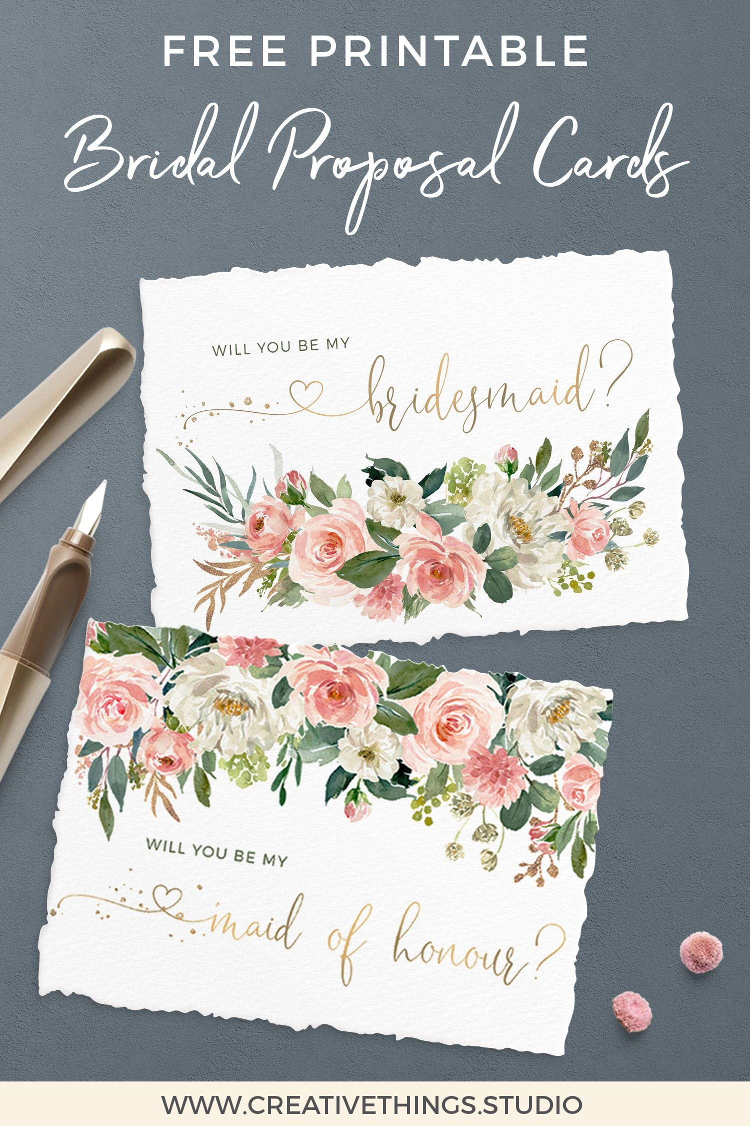 graphic about Will You Be My Bridesmaid Free Printable named Pin upon Totally free Marriage Printables and A lot more