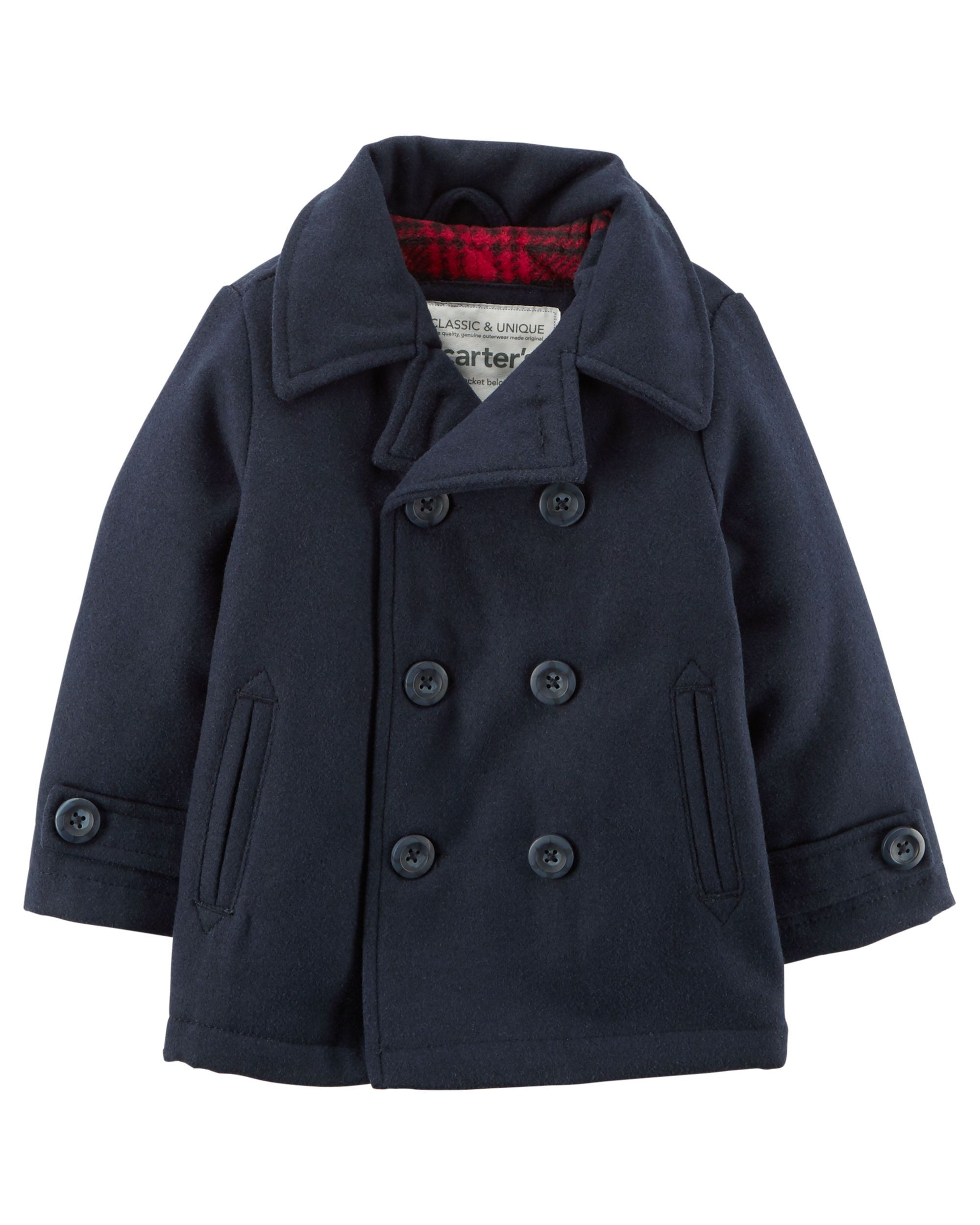 Wool Like Peacoat Cool Boys Clothes Baby Boy Jackets Baby Boy Coat [ 2500 x 2000 Pixel ]