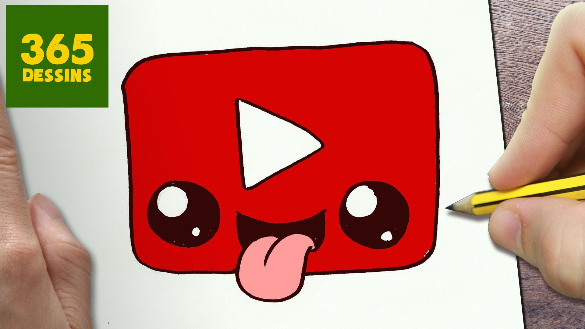 Comment Dessiner Logo Youtube Kawaii Etape Par Etape Dessins