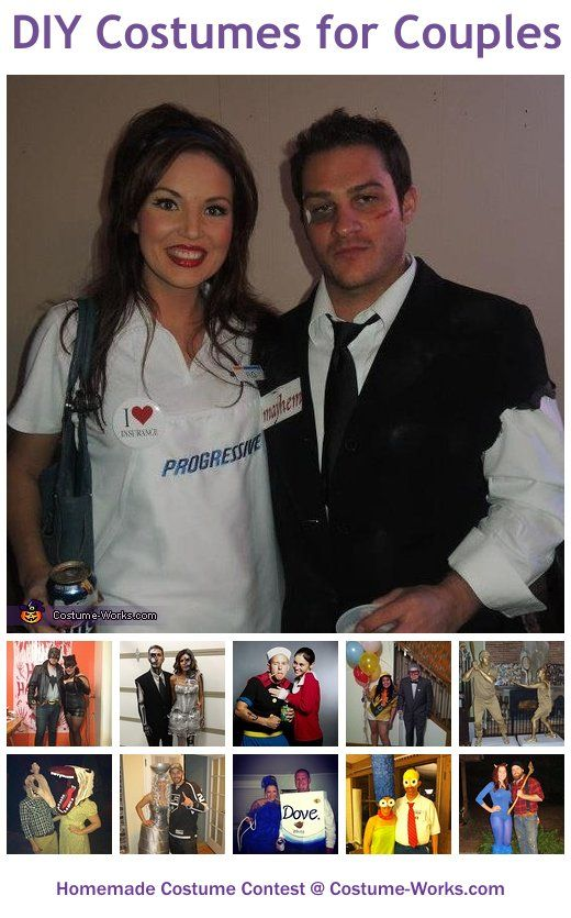 Homemade Costumes for Couples Homemade costumes, Diy costumes and - halloween couples costumes ideas