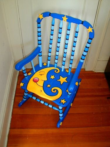 Painted Rocking Chairs | Painted Children S Table Trunk Show Hand Painted  Kids Table And Chair