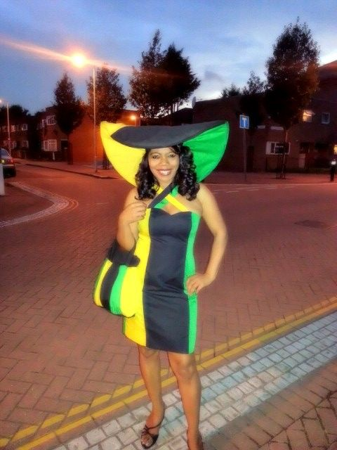 Jamaican Themed Dress Hat And Bag Jamaica National March 20th