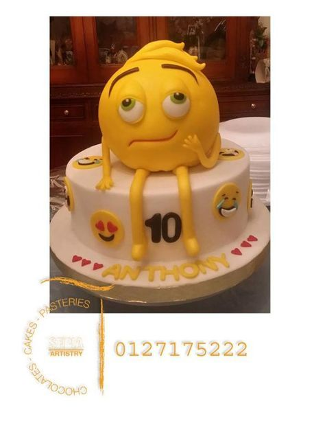 Emoji Cake By Sepia Chocolate Movie Cakes 13th Birthday
