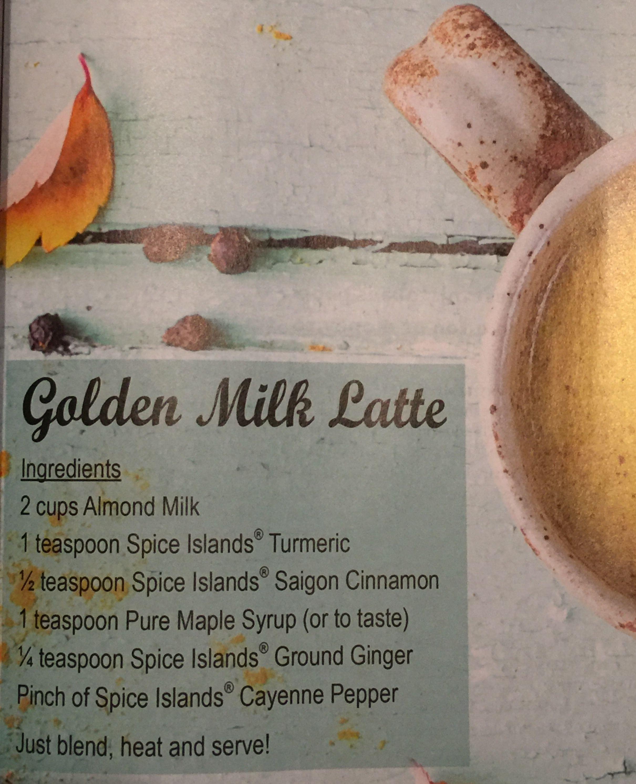 Spice Islands Golden Milk Latte