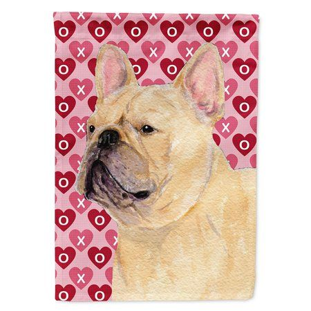 French Bulldog Hearts Love Valentine S Day Flag Canvas House Size