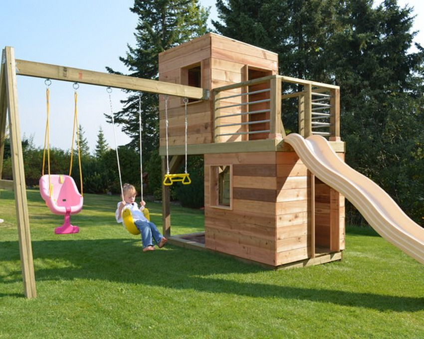 Modern Outdoor Kids Patio Playsets Decorating Backyard