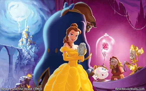 Belle Beast And All The Characters In This Beautiful Wallpaper From Disney Beautyand Beauty And The Beast Beauty And The Beast Wallpaper Beast Wallpaper
