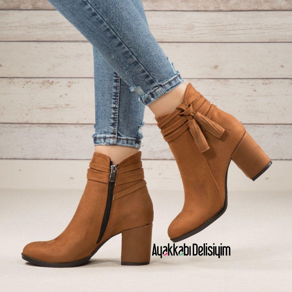 Nedo Suet Taba Rengi Puskullu Bot Zapatos Casual Mujer Zapatos Elegantes Mujer Zapatos Cerrados Mujer