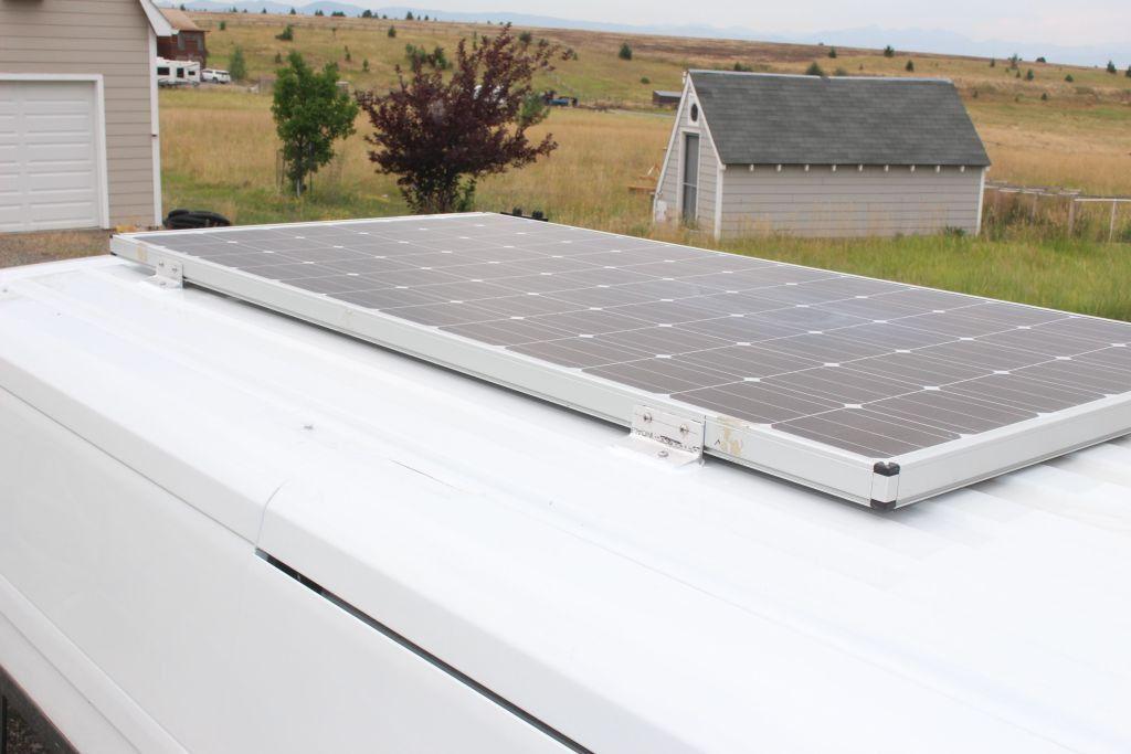 Our Promaster Van Conversion Solar Panel Mounting Build A Green Rv Solar Panels Roof Solar Panels Rv Solar Panels