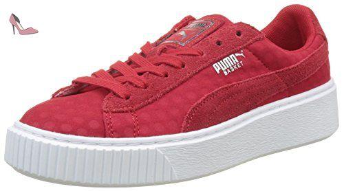 Puma Basket Platform de, Sneakers Basses Femme, Rouge (Toreador-Toreador), 39 EU