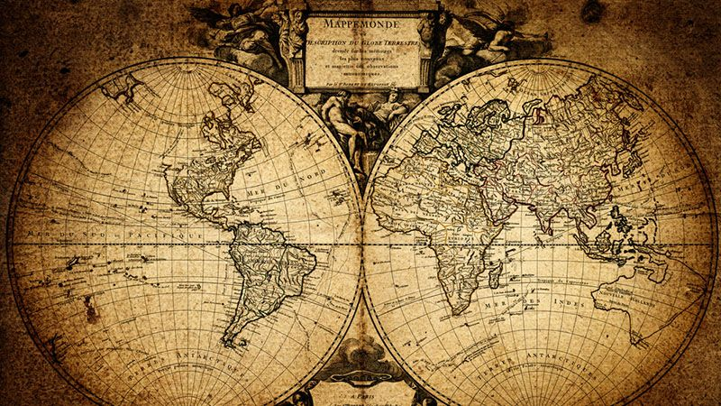 Vintage world map europe avrupa pinterest vintage world map gumiabroncs Image collections