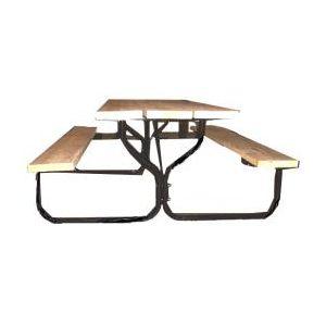 Black Round Picnic Table Frame Kit