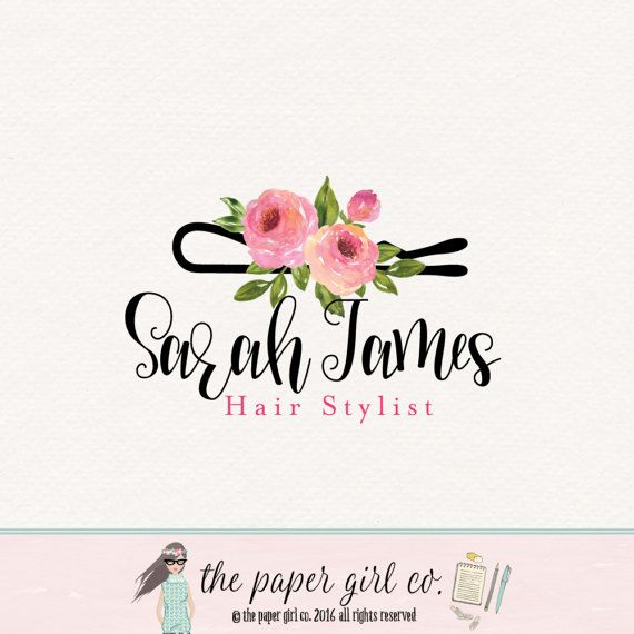 Hair Stylist Logo Hair Clip Logo Hair Salon Logo Beauty Shop