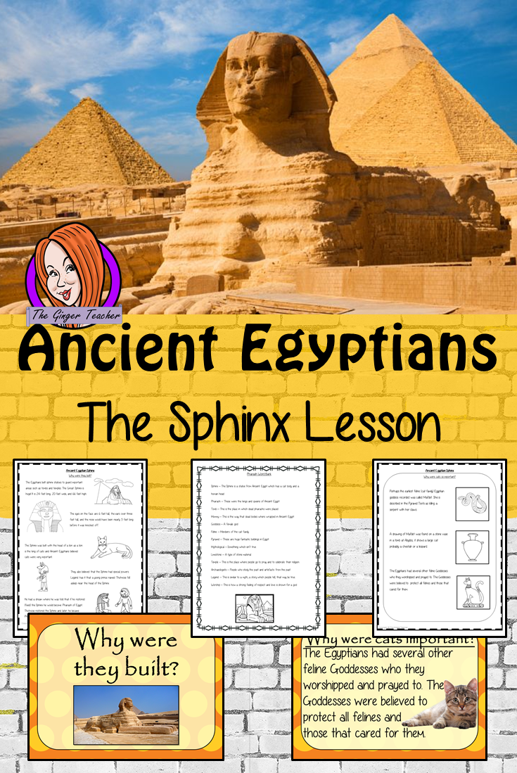 Ancient Egyptian The Sphinx Complete History Lesson Ancient Egypt Lessons Egypt Lessons Ancient Egypt For Kids