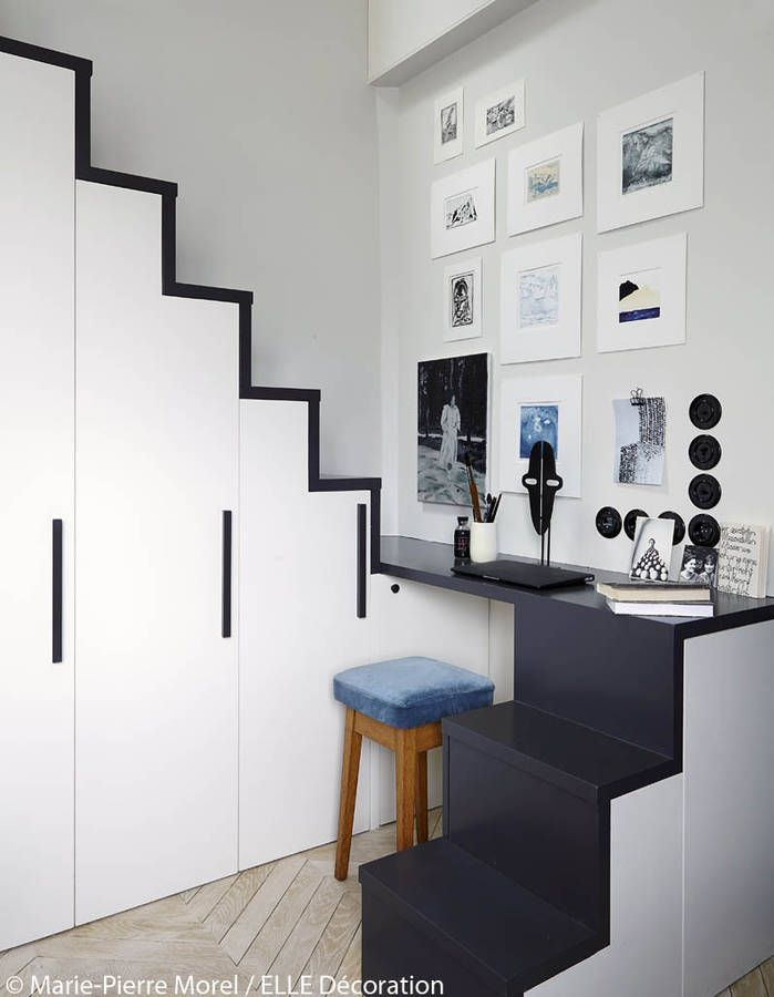 Placards sous l\u0027escalier escaliers Pinterest Small spaces