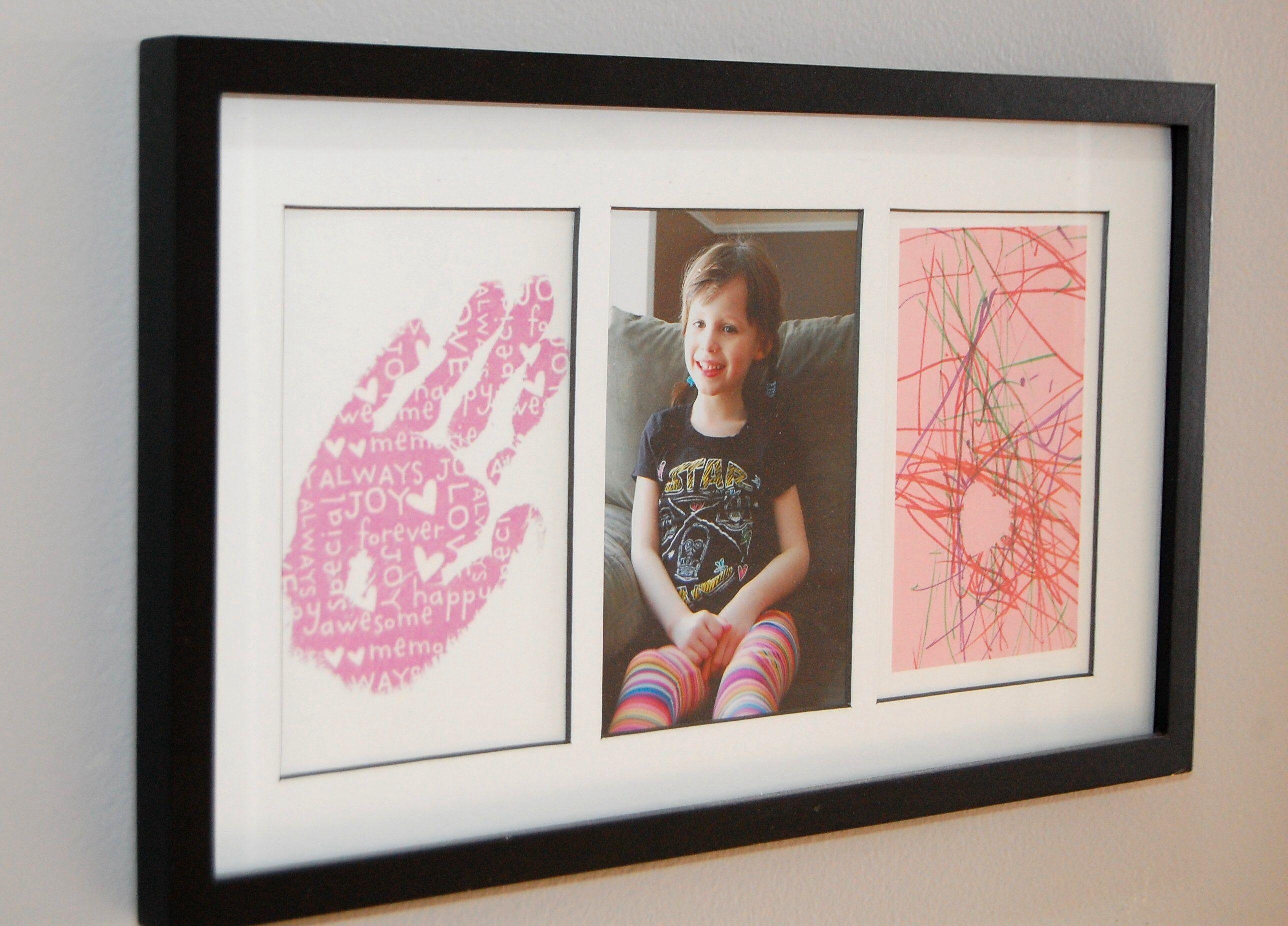 Easy mothers day gift for grandma framed snapshot in