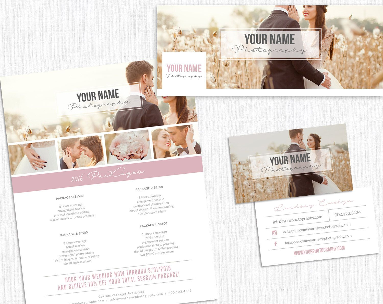 Photographer Branding Kit Set // Price Menu Template // Photography ...