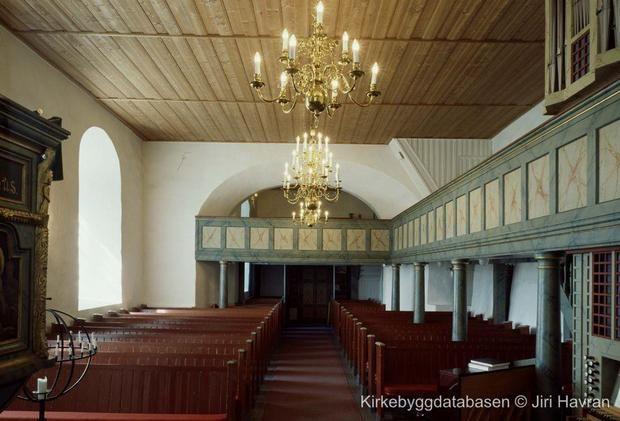 The interior of Skiptvet kirke, Østfold, Norway. (Lystad ancestors)