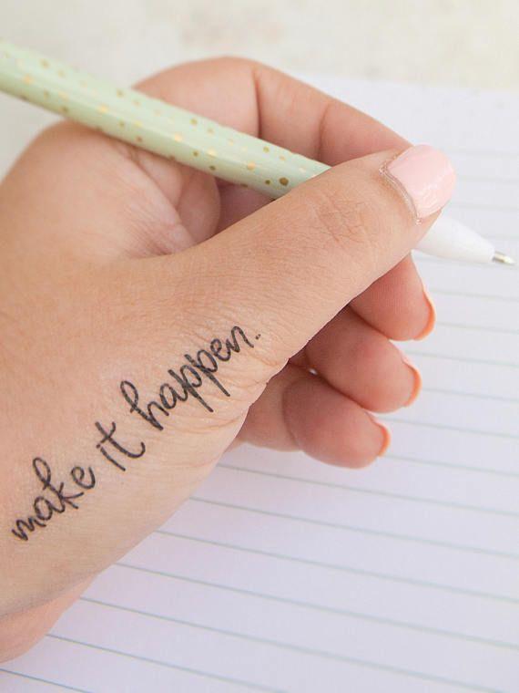 Make It Happen Inspirational Temporary Tattoos   Tattoo   Tattoos ...