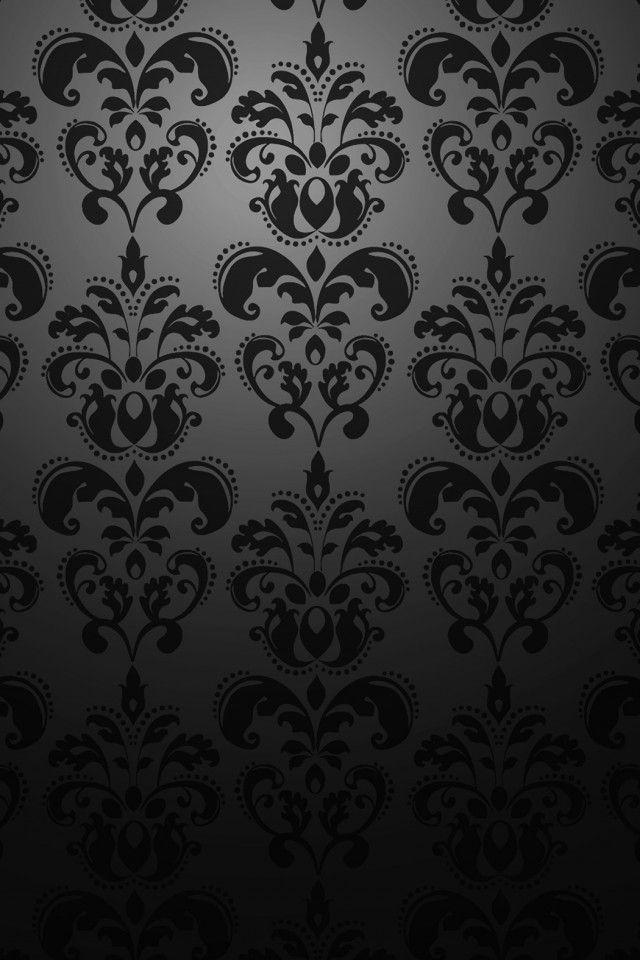 Iphone Wallpaper Pics Black Pattern Iphone Background Damask Wallpaper Victorian Wallpaper Iphone Wallpaper