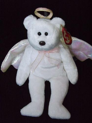 NEW 1998 Halo the Bear Ty Beanie Baby Babies RARE Typo Misprint Error  Gasport 3d3593da2834