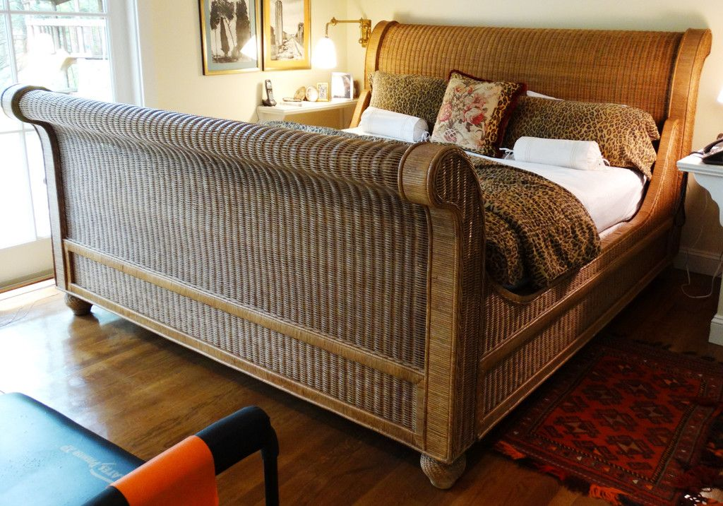 Image Of Por Wicker Sleigh Bed