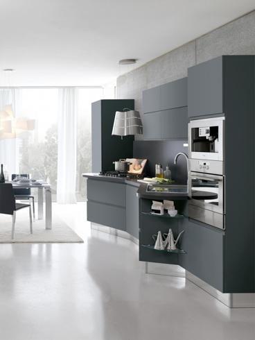 Stosa Cucine, Bring. Design Adriani, cucina-living realizzata con ...