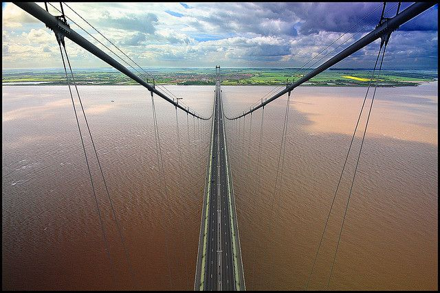 Top of the world (Humber Bridge) by Oldmanmat, via Flickr