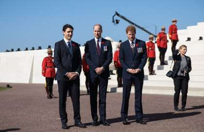(left to right) Canadian Prime Minister Justin Trudeau, The Duke of Cambridge an... - Provided by AOL Inc.