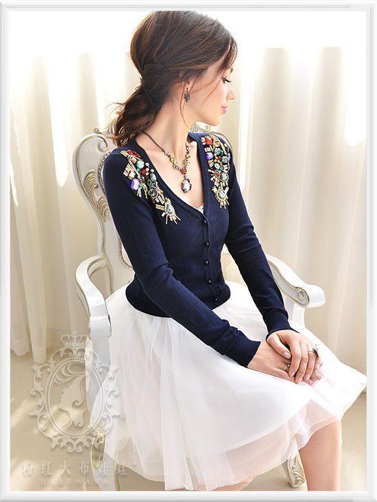 A-Line Tull Skirt - Dabuwawa   YESSTYLE