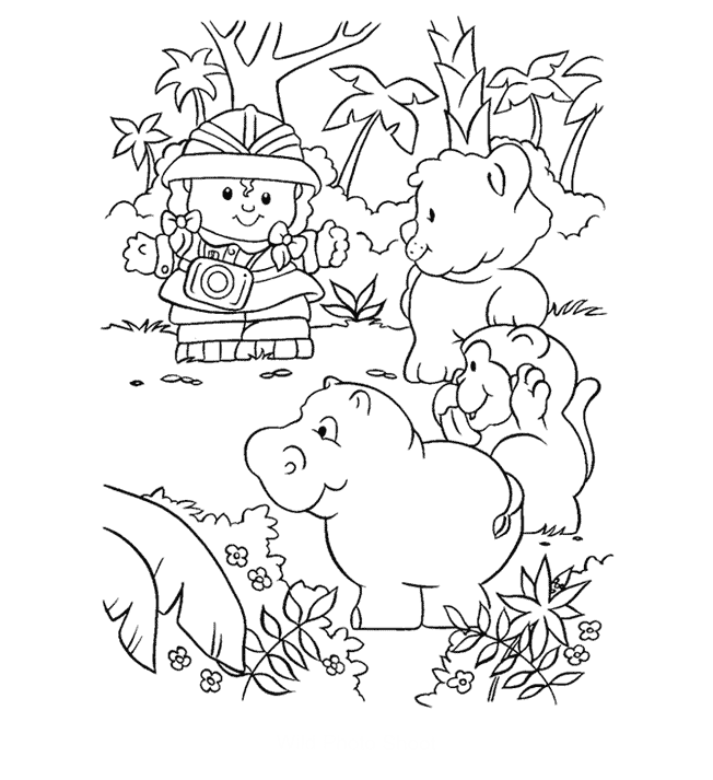 Fisher Price At The Zoo | Fisher Price Coloring Pages | Pinterest