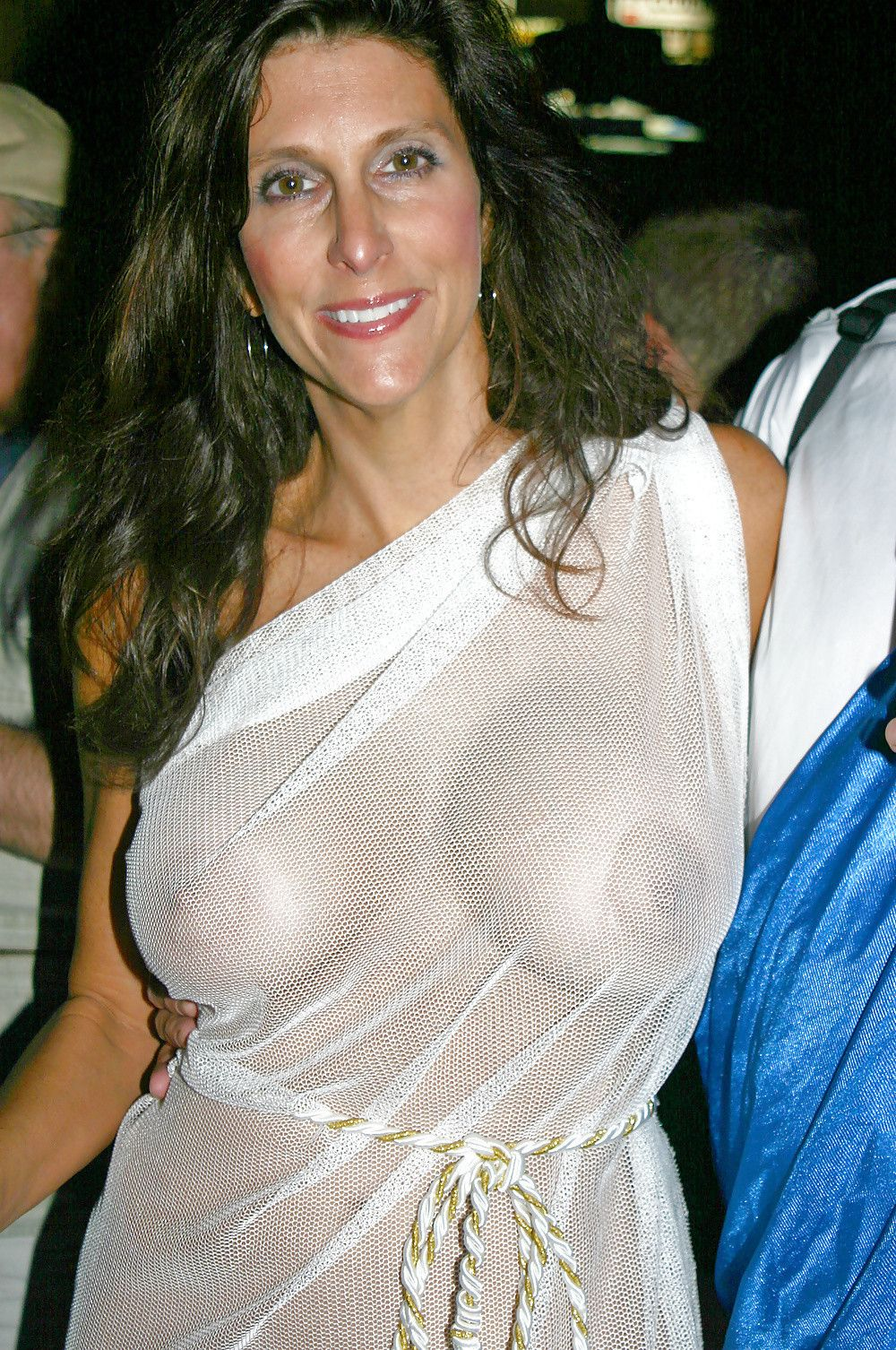 see through top Mature woman
