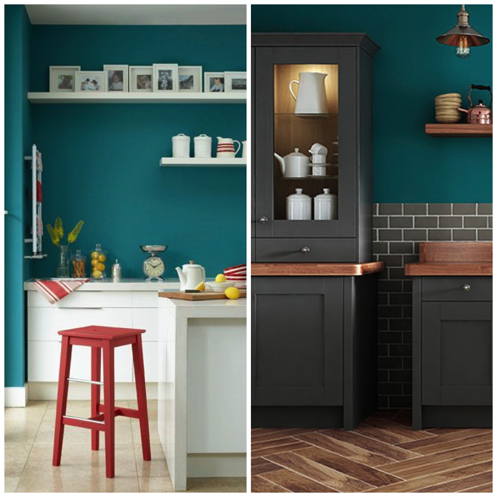 6 Creative Ways To Include Teal In Your Kitchen Big Chill Teal Kitchen Walls Teal Kitchen Cabinets Green Kitchen Walls