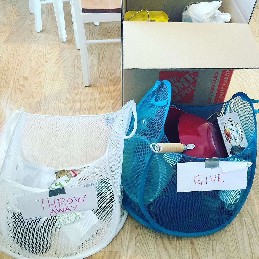 """Let the packing for the new  commence! I'm hoping the kids will learn a bit about decluttering with our baskets to """"give away"""" or """"throw away"""" by murphyfamilyadventure"""