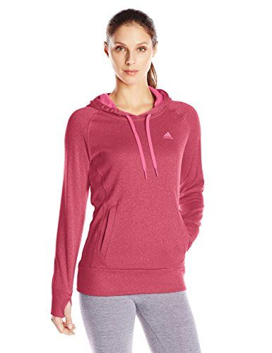 adidas Performance Ultimate Fleece Pullover Hoodie. adidas Performance Women's  Ultimate Fleece Pullover Hoodie, Large. Pink ...