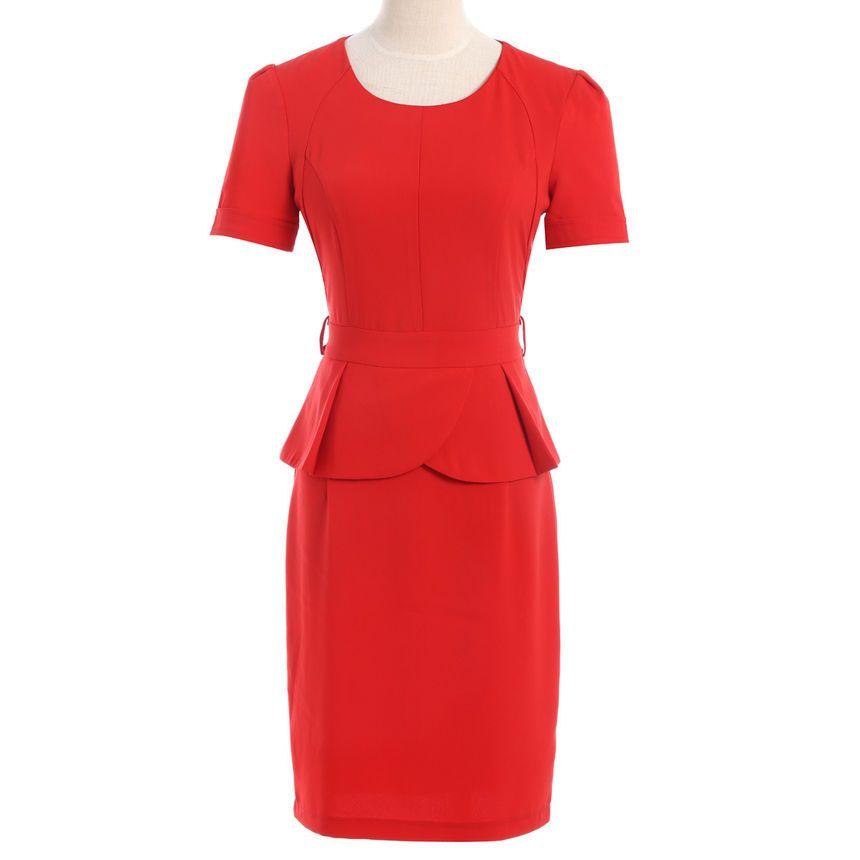 For the Alexander McQueen Red Peplum Dress | Vintage Dresses ...
