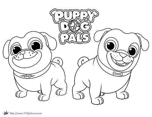 Puppy dog pals coming to disney junior disney junior for Disney jr color pages
