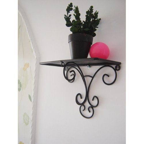 Scroll Home Wrought Iron Metal Wall Mounted Planter Wall Mounted Planters Wrought Iron Metal Walls