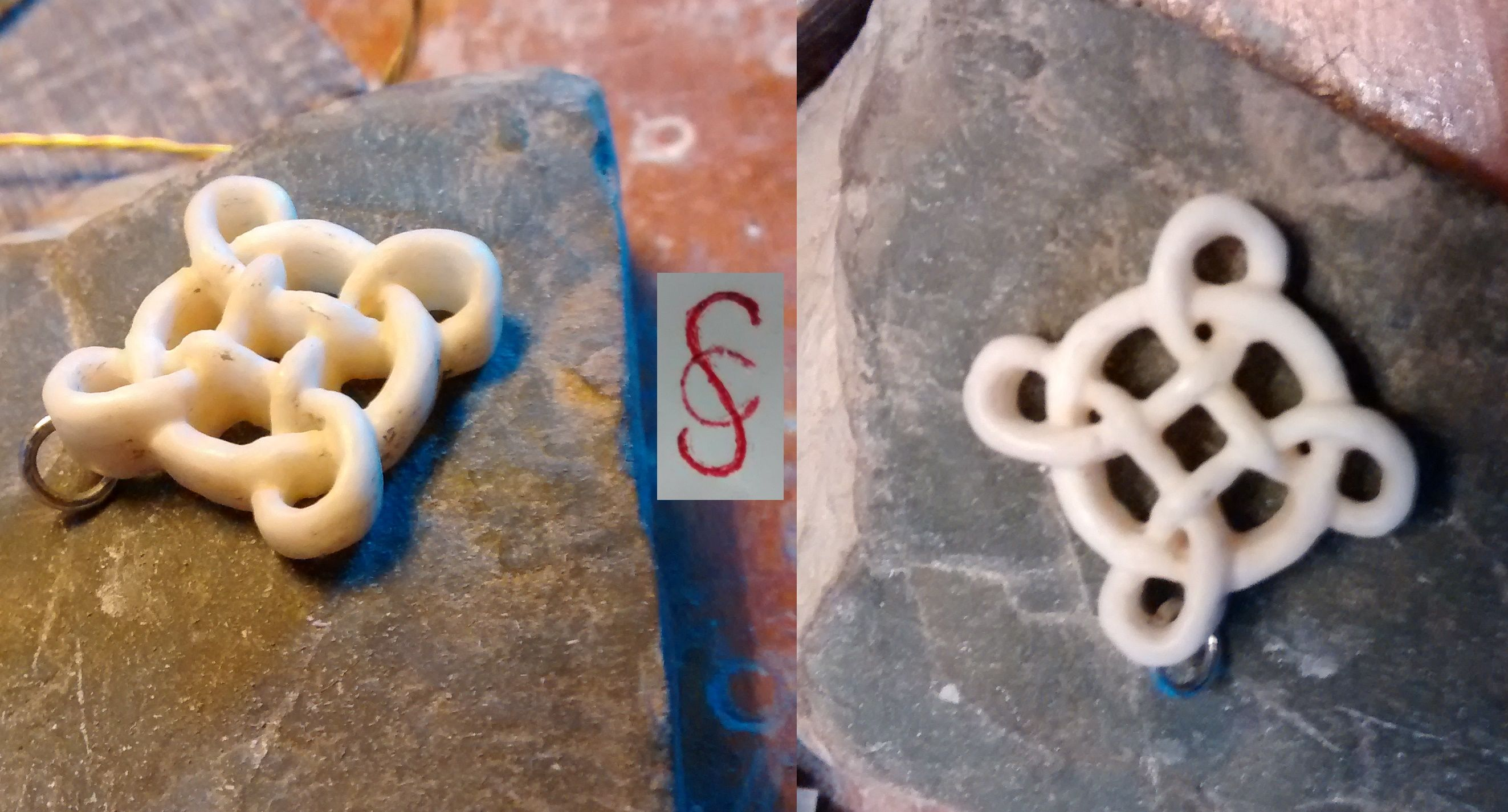 knotwork carved in bone