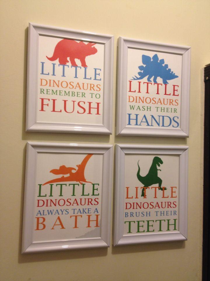 Boys Dinosaur Bathroom Decor