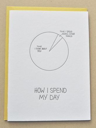 Emily McDowell Love Pie Chart Card  Pie charts Chart and Cards