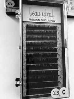 e377b76da7c beau ideal House of Beauty Premium Silk Eye Lash Extensions, 0.18, C Curl,