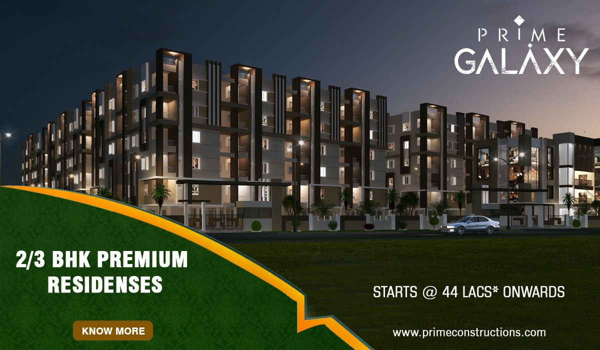 Affordable Luxury - PrimeGalaxy - A Luxury Gated Community offers 2/3 BHK residenses starts @ 44 lacs Onwards - At Mangalagiri Close to Vijayawada Know More:  http://goo.gl/05xDkA