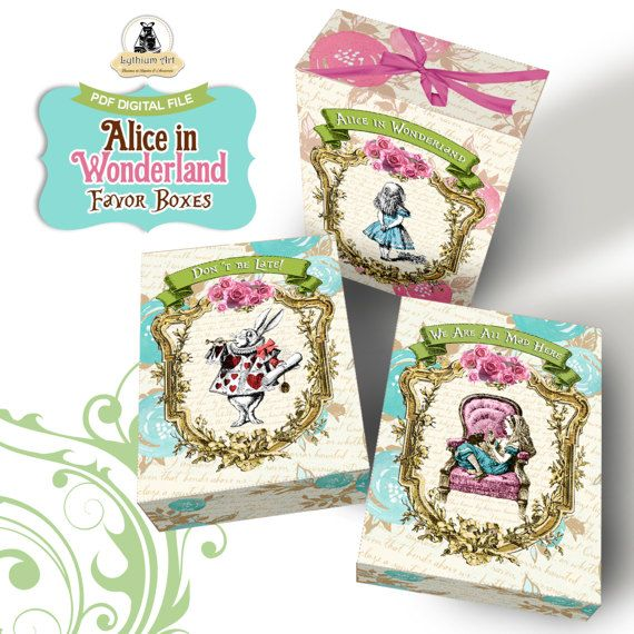 12 Alice In Wonderland Birthday Party Or Baby Shower Candy Hershey Bar Wrappers