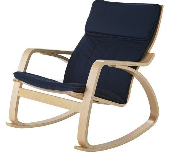 Buy HOME Fabric Rocking Chair - Chocolate at Argos.co.uk, visit ...