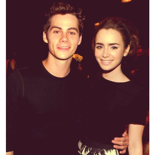 dylan o brien and lily collins tumblr liked on polyvore