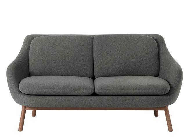 Oslo Canape 2 Places Gris Marne Et Pieds En Chene Teinte 2 Seater Sofa Sofa 3 Seater Sofa
