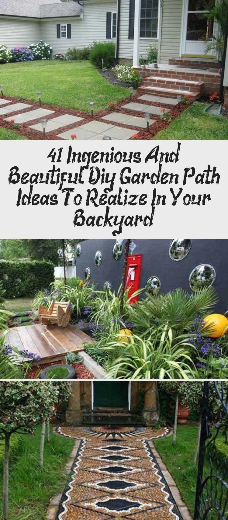 Photo of 41 Ingenious And Beautiful Diy Garden Path Ideas To Realize In Your Backyard – GARDEN